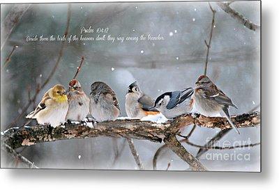 Birds On A Branch Metal Print