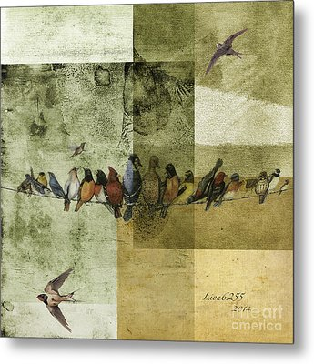 Metal Print featuring the digital art Birds On A Wire by Melissa Messick