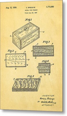 Birdseye Frozen Food Patent Art 1930 Metal Print