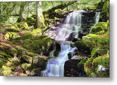 Birks Of Aberfeldy Cascading Waterfall - Scotland Metal Print by Jason Politte