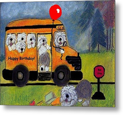 Birthday Bus Metal Print