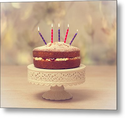 Birthday Cake Metal Print by Amanda Elwell