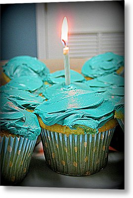 Birthday Cupcakes Metal Print