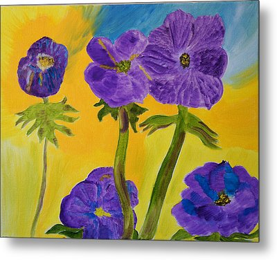 Metal Print featuring the painting Birthday Memory by Meryl Goudey
