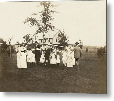 Birthday Party Maypole Metal Print by Underwood Archives