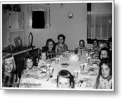 Birthday Party Table Grove Illinois 1957 Metal Print
