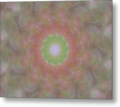 Birthing Mandala 1 Metal Print by Rhonda Barrett