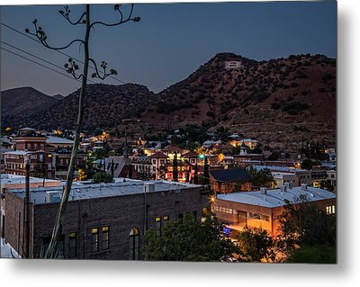 Metal Print featuring the photograph Bisbee At Night by Beverly Parks
