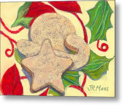 Metal Print featuring the pastel Biscochitos-nm State Cookie by Julie Maas