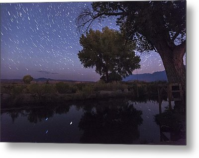 Bishop Canal Star Trails Metal Print by Cat Connor