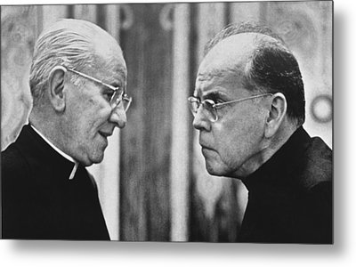 Bishops Talk Metal Print by Underwood Archives