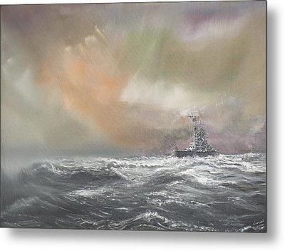 Bismarck Signals Prinz Eugen  Metal Print by Vincent Alexander Booth