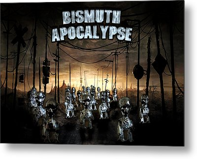 Metal Print featuring the photograph Bismuth Apocalypse by Tarey Potter
