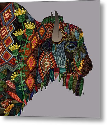 Bison Heather Metal Print