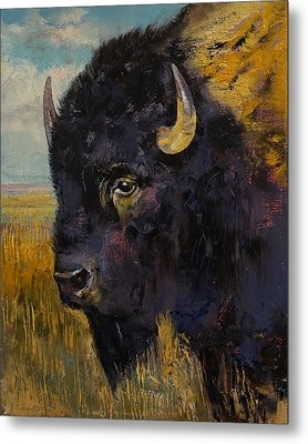 Bison Metal Print by Michael Creese