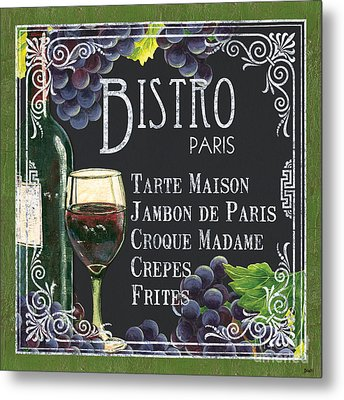 Bistro Paris Metal Print by Debbie DeWitt