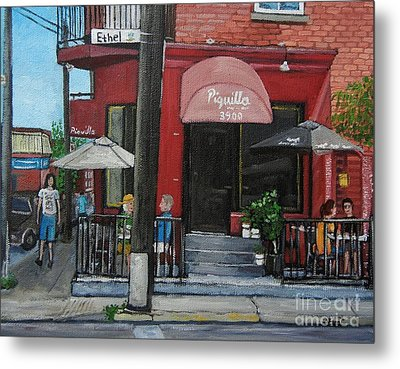 Bistro Piquillo In Verdun Metal Print by Reb Frost
