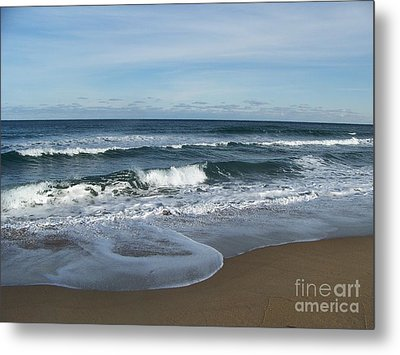 Metal Print featuring the photograph Winter Beach  by Eunice Miller