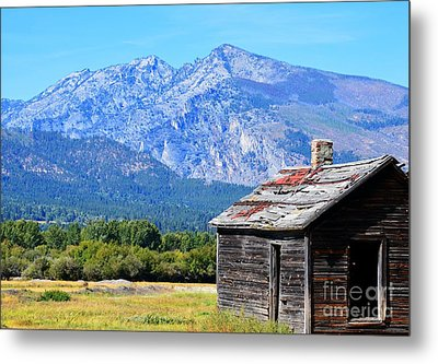 Metal Print featuring the photograph Bitterroot Valley Cabin by Joseph J Stevens