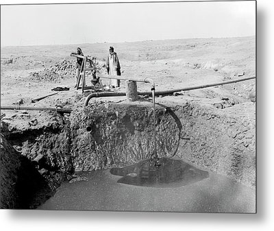 Bitumen Well In Iraq Metal Print by Library Of Congress