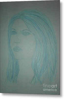 Biviana In Blue Metal Print by James Eye