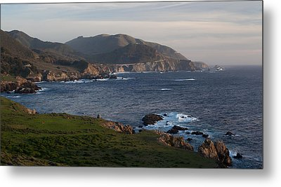 Bixby Bridge And Cows Metal Print by Mike Reid