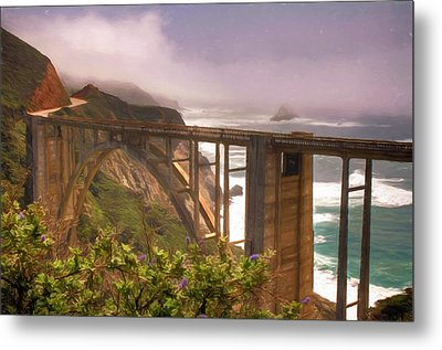 Bixby Bridge At Big Sur Metal Print by Donna Kennedy