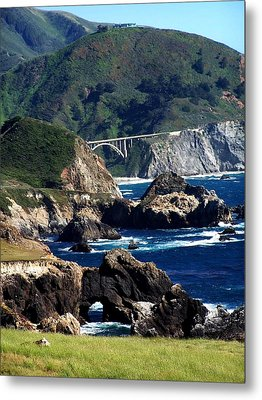 Metal Print featuring the photograph Bixby Bridge by Christine Drake