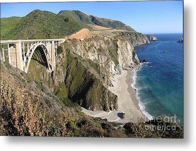 Metal Print featuring the photograph Bixby Bridge by James B Toy