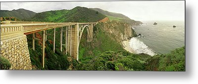 Bixby Bridge On The Big Sur Coast Metal Print by Panoramic Images
