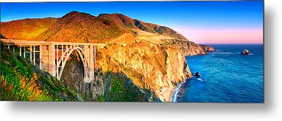 Bixby Creek Arch Bridge Metal Print by Emmanuel Panagiotakis