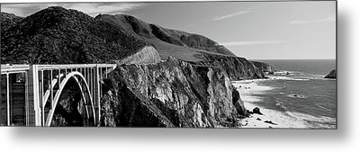Bixby Creek Bridge, Big Sur Metal Print by Panoramic Images