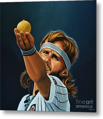 Bjorn Borg Metal Print by Paul Meijering