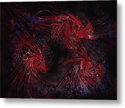 Black And Blue And Mad All Over Metal Print