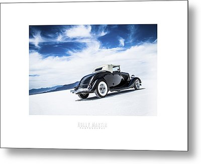 Black And Blue Metal Print