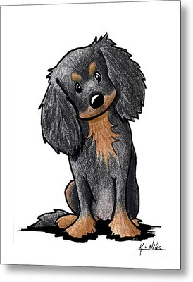 Black And Brown Ckc Spaniel Metal Print