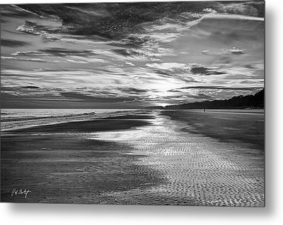 Black And White Beach Metal Print by Phill Doherty