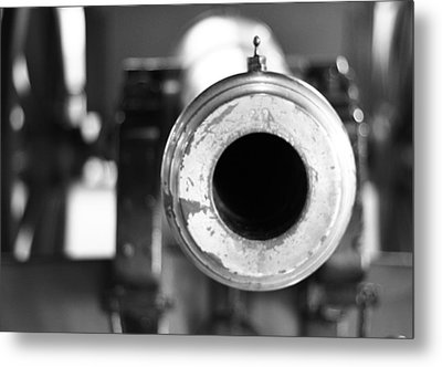 Black And White Cannon Metal Print by Dan Sproul