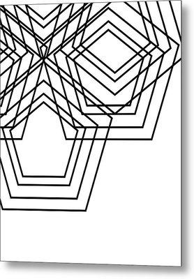 Black And White Geo Metal Print
