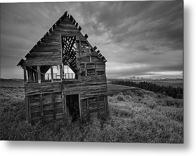 Black And White Metal Print by Leland D Howard