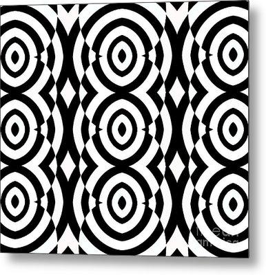 Black And White Op Art Pattern No.249. Metal Print by Drinka Mercep