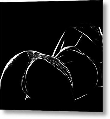 Black And White Pleasure Metal Print by Steve K