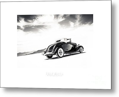 Black And White Salt Metal Metal Print