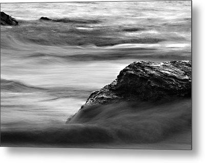 Black And White Seascape Metal Print