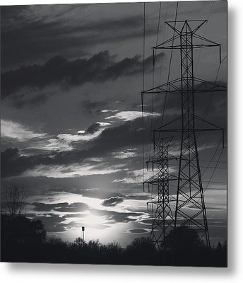 Black And White Skies Metal Print