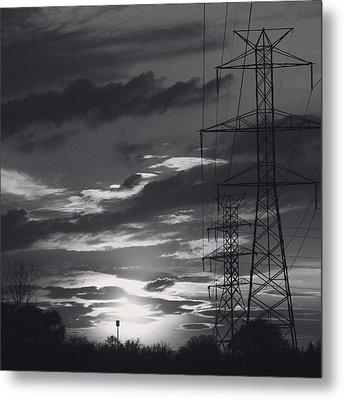 Black And White Skies Metal Print by Nikki McInnes