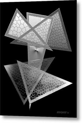 Black And White Triangles Metal Print by Mario Perez