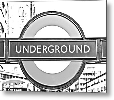 Black And White Underground Metal Print by Georgia Fowler