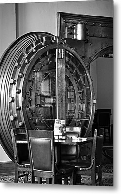 Black And White Vault Metal Print