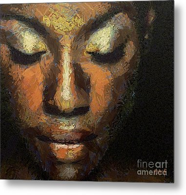 Black Beauty Metal Print by Dragica  Micki Fortuna